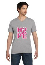 Camo Pink Ribbon Hope Breast Cancer Awareness V-Neck T-Shirt Support