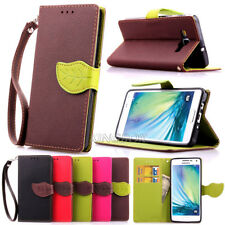 Luxury Leaf PU Leather Wallet Card Holder Magnetic Flip Case For Various Phones