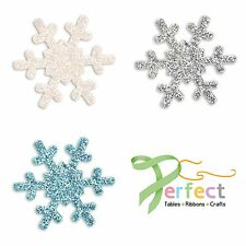 Pack 12 Frozen Snowflakes Self Adhesive Wedding Favour Box Craft Decoration