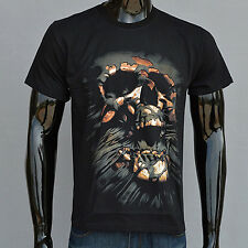 Men Creative 3D Skull Casual Short Sleeve T-shirt Round Neck Top Magic