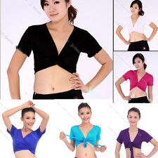 Women Cotton Yoga Belly Dance Bra Top Sport Blouse Tops Costume Belly Dancewear