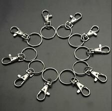 10/20 Split Lobster Finding Clips Bag Key Ring Swivel Charm Clasps Hooks Trigger