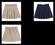 George Girls' School Uniforms, Belted & Pleated Scooter warm beige or navy