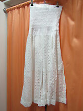 NEW THREE OF SOMETHING WESTWARD JUMPSUIT WHITE XS TO XL