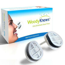 WoodyKnows Nasal Filters Air Pollution Mask Nose Dust Mask Pollen Allergy Relief