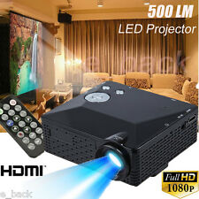 Home Cinema Theater Portable LED LCD Projector 1080P HD HDMI AV USB VGA SD Lot
