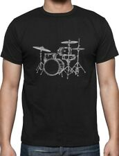 Gift for Drummer - Cool Drums Design Printed T-Shirt Drums Player