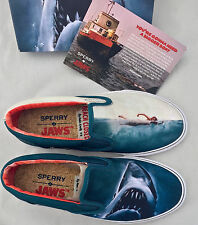 11 Sperry Top-Sider x Jaws Striper Slip On Shark Attack Boat Shoe Movie Poster