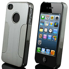 Aluminum Luxury Brushed Steel Chrome Deluxe Case Cover Skins For iPhone 5 5S