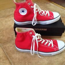 MENS CONVERSE RED HI TOP PUMPS SIZE 12 VERY GOOD CONDITION.