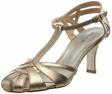 Mariana by Golc Women's Samantha Champagne Leather Sandal