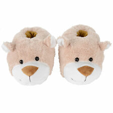 Girls New Teddy Bear Novelty Slippers WIth Non Slip Sole UK Sizes 9,10,11,12,1,2