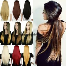 Half Wig Long Straight Curly Wavy Natural Ombre Two Tone Wigs Glamour Ladies UK