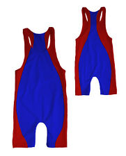 MENS RACERBACK WRESTLING SINGLET WITH SIDE STRIPE- YOU CUSTOMIZE FABRIC COLORS