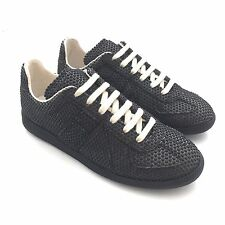 NWT $595 Maison Margiela Men's Black Rubber Dot Low Top Sneakers 7 8 AUTHENTIC
