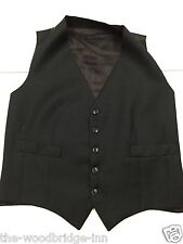 MENS SIZE CHEST 38 ins. DARK GREY LINED SUIT WAISTCOAT 7J
