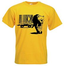 BANKSY BARCODE LEOPARD T-SHIRT - Choice Of 9 Colours - Sizes S to XXXL