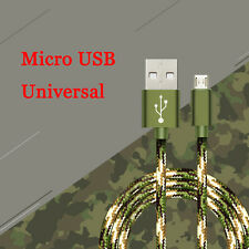 0.25/1/1.5M Braided Micro USB Quick Data Sync Charger Charging Cable Cord Lot