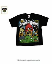 ANGRY BIRDS ANGRIEST ATTACK Youth Kids Black T-Shirt - Licensed