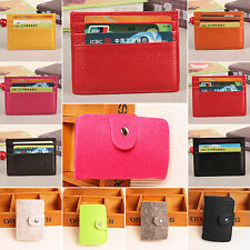 Men Casual Leather Slim Credit Card Case Organizer ID Cash Holder Pocket Wallet