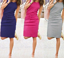 Casual Sleeveless Summer Short Women Fashion Evening Party Cocktail Dress New