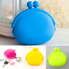Women Multi Silicone Round Coin Purses Wallet Card Rubber Key Design Bag new