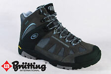 Brütting Hiking Boots Boots waterproof Real leather grey new