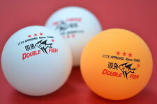 3x Double Fish 3stars table tennis balls, ITTF Approved, Melbourne