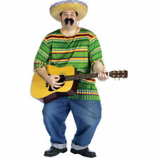 Adult Plus Size Mexican Serape And Hat Costume