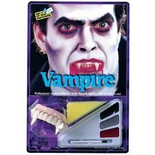 Adult Vampire Halloween Makeup Kit W/ Teeth
