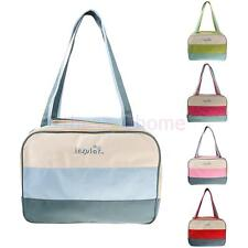Color Block Mummy Bag Tote Shoulder Messenger Baby Nappy Changing Diaper Bag NEW