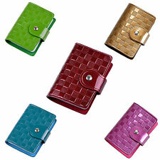 Woman Lady Faux Leather ID Credit Card Case Holder Pocket Bag CP