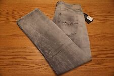 NWT MEN'S GUESS JEANS Multiple Sizes Regular Fit Straight Leg Gray Distress $108