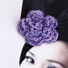 20pcs Handmade Crochet Flowers Appliques DIY Sewing Craft Bag Hat Clothes Decor