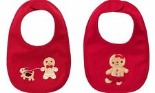 GYMBOREE Baby Gingerbread Cookie Boy Dog or Girl Red Bib Choice NWT Easy Close