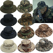 Unisex Bucket Hat Boonie Hunting Fishing Outdoor Cap Men Camo Wide Brim Military