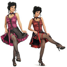 Cancan Burlesque Dancer Costume (Choose Your Color) Girl Western Saloon West New