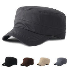 Men Women Army Military Cadet Style Cap Golf Driving Summer Plain Hat Adjustable