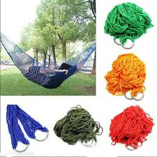 Outdoor Mesh Travel Camping Nylon Swing Hammock Hanging  Portable Sleeping Bed