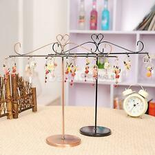 T shape Jewelry Necklace Bracelet Display Rack Stand Organizer Black/Bronze