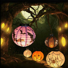 Fun Paper Pumpkin Spider Hanging Lantern Light Halloween Party Decor Lampshade
