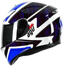 Agv K3 SV Pulse DVS Full Face Motorcycle Helmet - White Black Blue