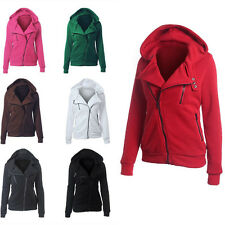 Women Winter Hooded Hoodie Sweatshirt Sport Wear Zip Coat Jacket Ladies Tops m5