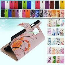 Flip Folio Magnetic Wallet Cover PU Leather Case For Samsung Galaxy S5 SV i9600