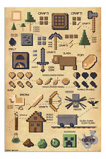 Minecraft Pictograph Large Wall Poster New - Maxi Size 36 x 24 Inch