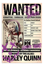 Harley Quinn Wanted Suicide Squad Film Poster New - Maxi Size 36 x 24 Inch