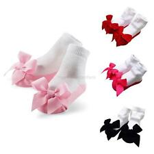 0-24M Infants Baby Kids Toddler Girls Anti-Slip Socks Shoes Slipper New Cute