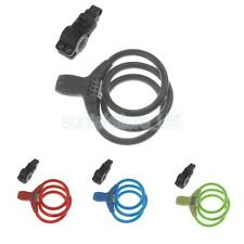 12mm Cable 4-digit Combination Password Security Bike Bicycle Lock w/ LED Light