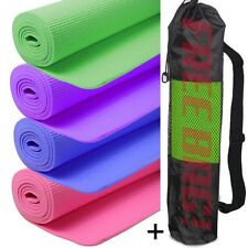 Yoga Mat PVC Thick Exercise Fitness Physio Pilates Gym Mats Non Slip Free Bag