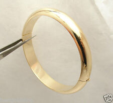 Technibond Bold Band Ring Style Bangle Bracelet 14K Yellow Gold Clad Silver